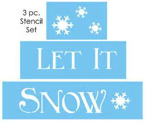 Design Your Own Home Nebraska winter stencil let it snow snowflakes holiday country