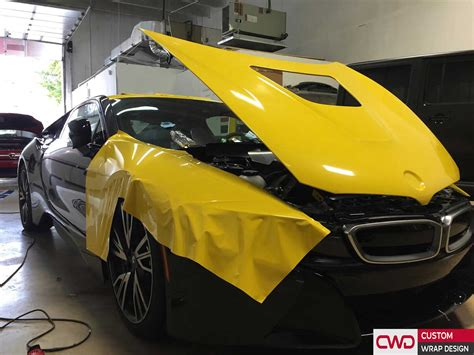 Bmw 3m by Bmw I8 Wrapped In 3m Bright Gloss Yellow Car Wraps Miami
