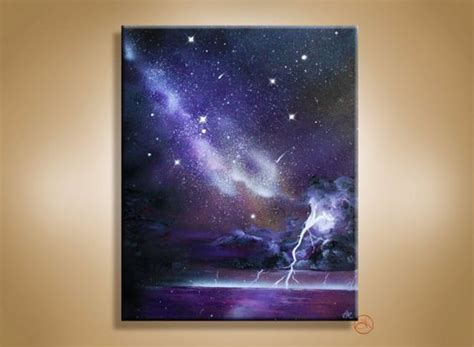 spray paint lightning lightning canvases and lightning storms on