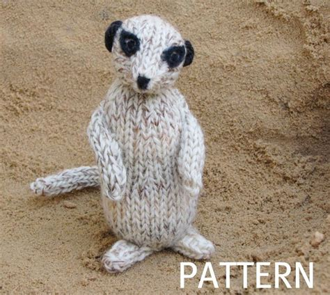 knitting patterns of animals meerkat pattern by dawkins craftsy