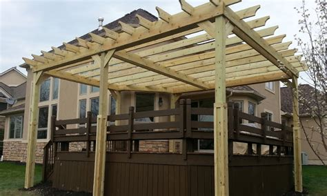 how to build a pergola on an existing deck pergoal construction