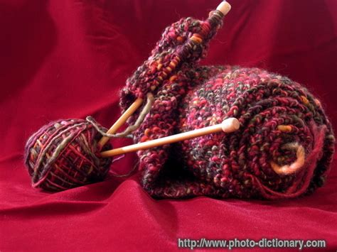 define knit knitting photo picture definition at photo dictionary