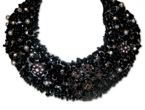 black beaded statement necklace tekay designs welcomes 2012 with colorful