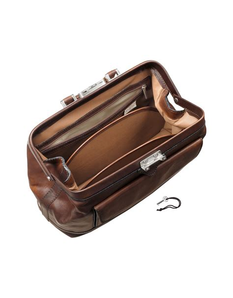 leather doctor bags for pratesi genuine leather doctor bag in brown for lyst
