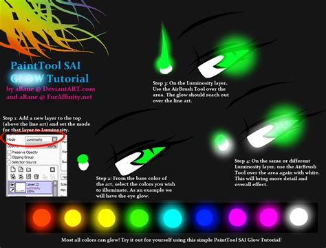 paint tool sai glow effect tutorial painttool sai glow tutorial by abane on deviantart