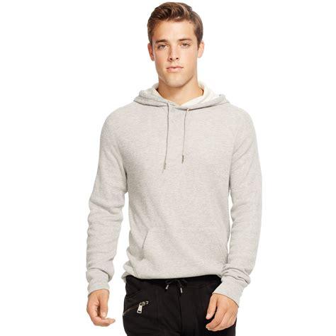 ralph waffle knit hoodie polo ralph waffle knit pima cotton hoodie in gray