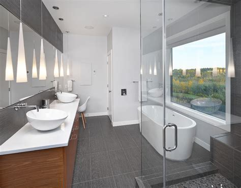 modern ensuite bathrooms ensuite contemporary bathroom edmonton by habitat