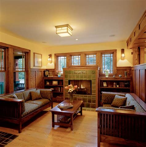craftsman home interiors pictures fireplace on