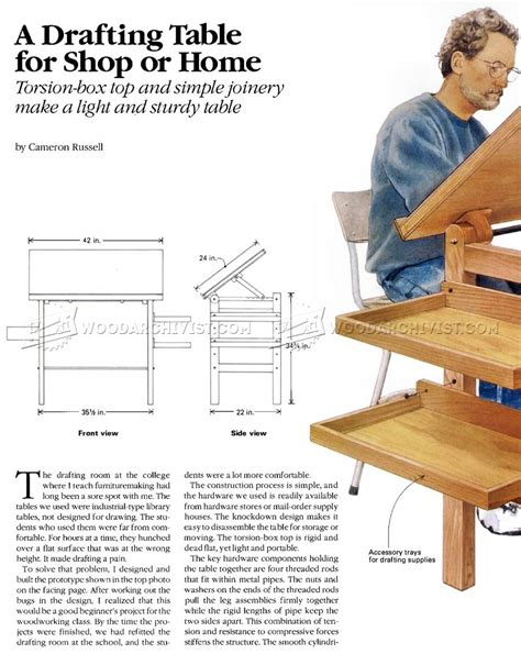 woodworking plans drafting table woodworking plans drafting table image mag