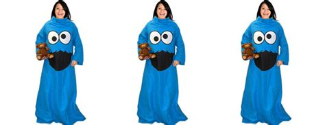 Buy Kitchen Furniture cookie monster throw blanket with sleeves the green head