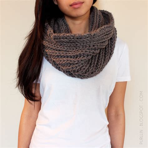 how to knit an infinity scarf with needles purllin textured november infinity scarf free pattern