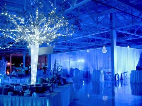 blue lighting at winter wonderland event rick herns