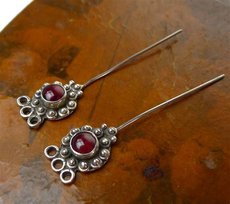 headpins jewelry garnet headpins sterling silver and garnet jewelry