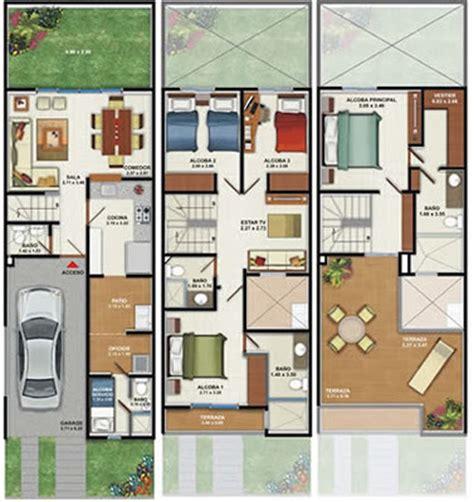 Best Small Home Floor Plans plano de casa de 160m2 3 pisos 4 dormitorios planos de