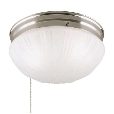 pull chain light fixture home depot westinghouse 2 light brushed nickel flushmount interior