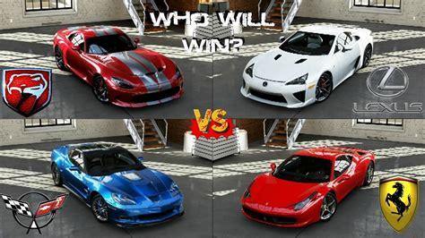 Forza 5   458 Italia vs Viper GTS vs Corvette ZR1 vs LFA