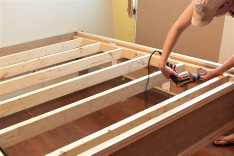 wood bed frame construction how to make a wood bed frame