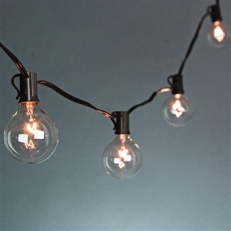 outdoor string lights home depot 20 light clear patio string to string light set 92883