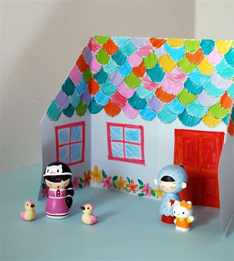 house craft ideas for make an adorable origami doll house