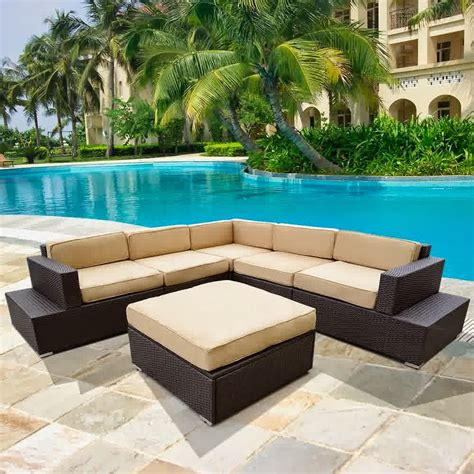 rattan wicker patio furniture patio rattan sofa wicker sectional furniture sofa set