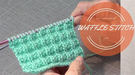 waffle stitch knitting waffle knit stitch