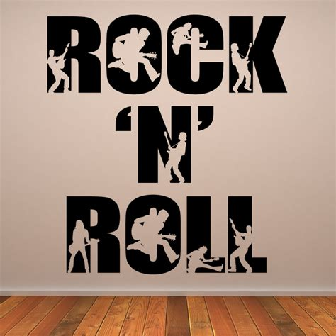 wall transfer stickers rock n roll wall decals wall stickers transfers ebay