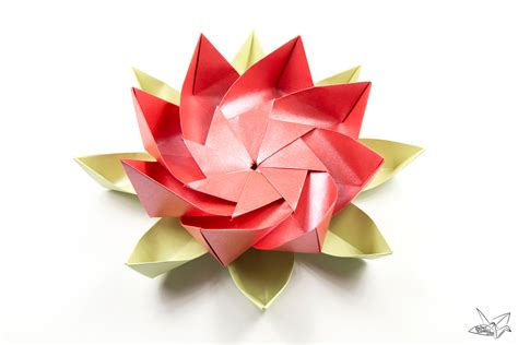 origami flower advanced modular origami lotus flower with 8 petals tutorial