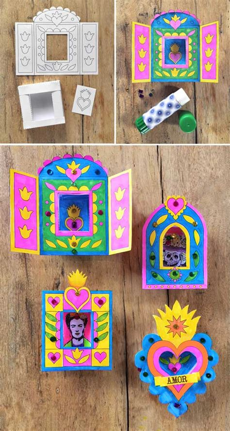 how to crafts for make nichos paper craft activity idea pop shop america