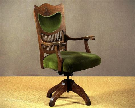 Antique Desk Chairs Swivel by Antique Wooden Swivel Desk Chair Antique Furniture