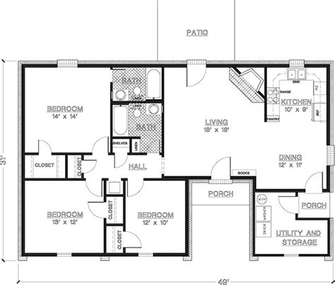 simple 3 bedroom house plans 2 bedroom house plans 1000 square home plans