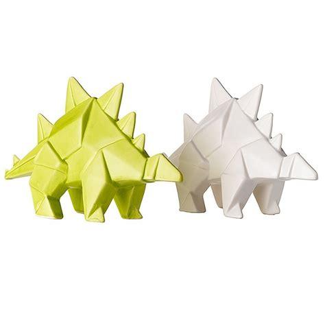 origami stegosaurus ceramic origami stegosaurus set leeann yare for general