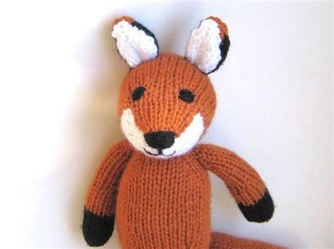 how to knit a stuffed animal knitted fox stuffed animal soft knit