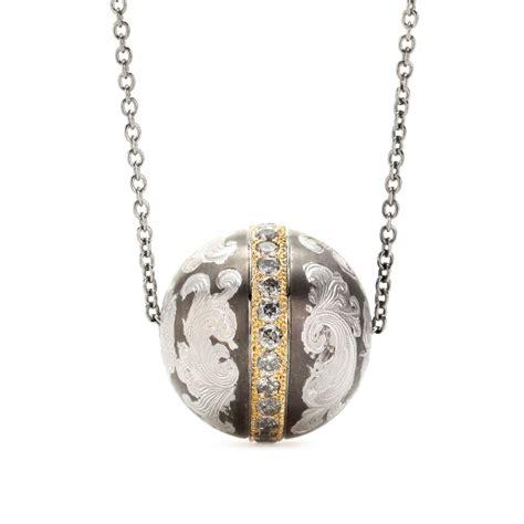 pendant jewelry roberto marroni niello engraved silver pendant