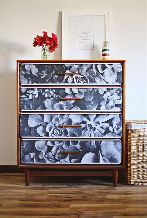 how to decoupage furniture with paper project restyle photo decoupage a beautiful mess