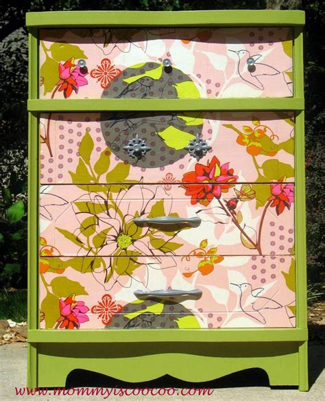 how to decoupage with fabric decoupage dresser with horner fabric