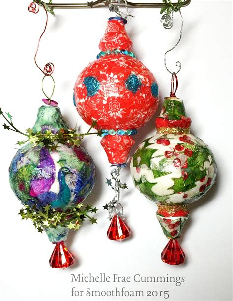 decoupage ornament decoupage tissue paper ornaments smoothfoam