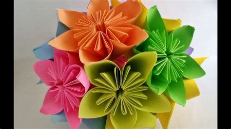 easy origami flower bouquet how to make kusudama flower kusudama flower