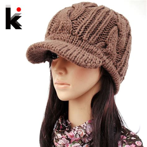 knitted hats for aliexpress buy winter knitted hat wide brim quality