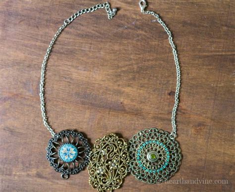 pieces to make jewelry make your own statement necklace from vintage jewelry