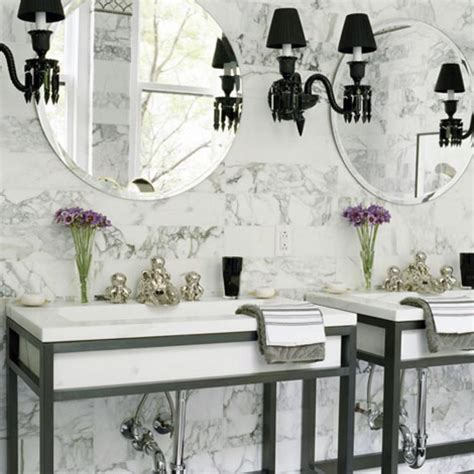 Black And White Themed Bathroom by Beautiful Black And White Bathrooms Traditional Home