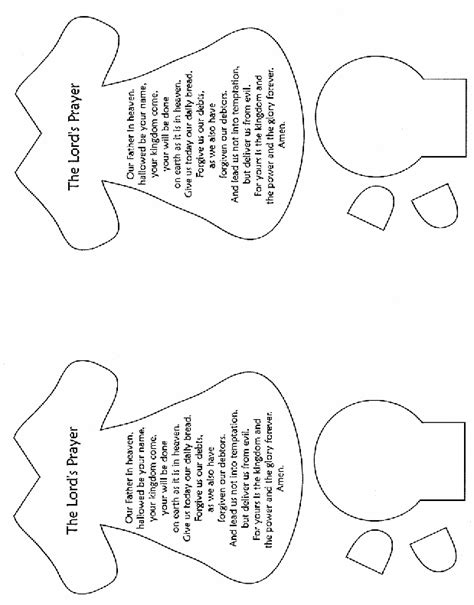 free prayer crafts for 8 best images of printable lord s prayer craft printable