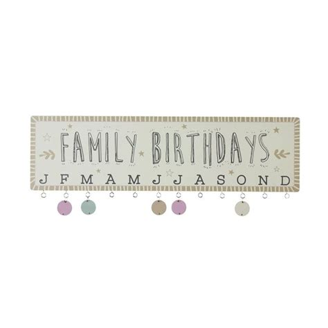hanging plaque wooden hanging family birthdays plaque find me a gift