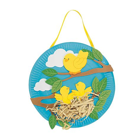 bird paper plate craft paper plate bird s nest craft kit trading