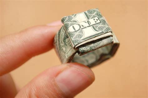 origami ring dollar bill fold a dollar bill to make a finger ring