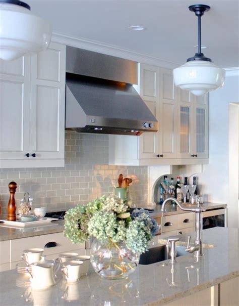 kitchen backsplash lighting bianco romano granite michael s smith signature tile