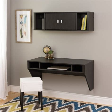 designer floating desk designer floating desk with hutch in washed finish
