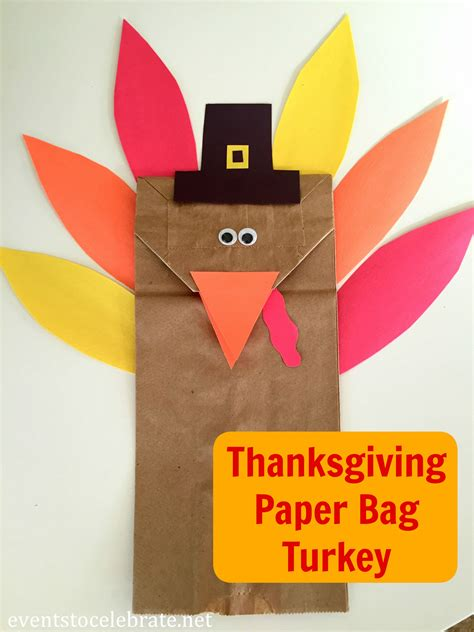 paper bag turkey crafts paper bag turkey archives events to celebrate