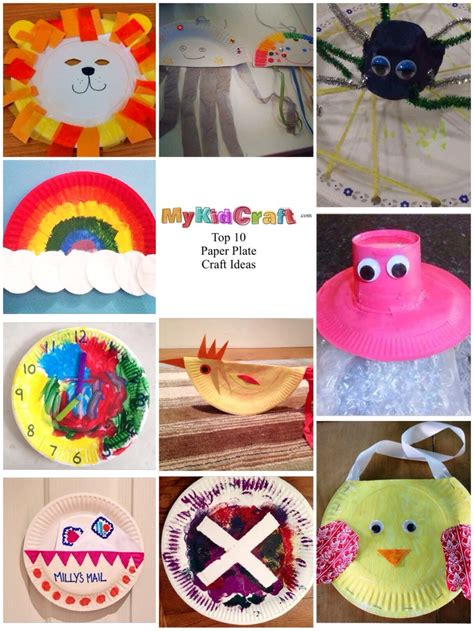craft ideas for paper plates top 10 paper plate craft ideas my kid craft