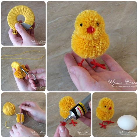 wool crafts for how to make adorable pom pom easter