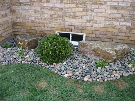 garden bed rocks pro lawn landscaping orono ontario rock garden